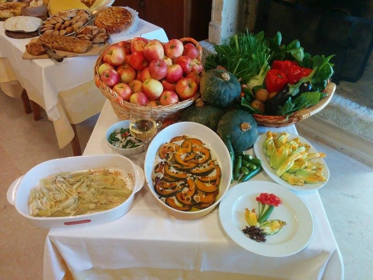 Buffet cena biologico, Borgovalfredda agriturismo verona, ristorante